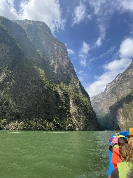 A boat trip in Sumidero Canyon National park, Mexico.