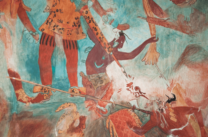 Murals in Bonampak, a Mayan city in Chiapas