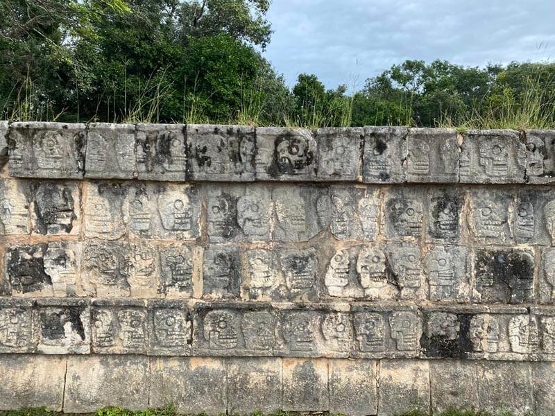 Platform of the Skulls in Chichén Itzá, Mexico