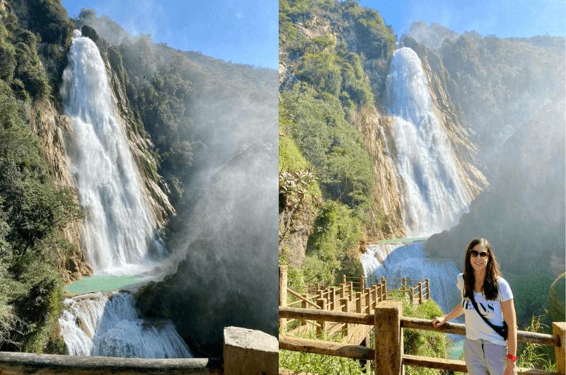 Chiflón Waterfall in Chiapas, Mexico