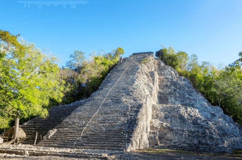 A pyramid in Coba, Mayan ruins in Mexico