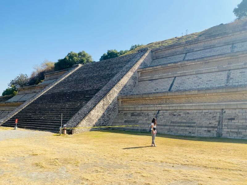 My wife exploring the ruins in Cholula near Puebla city, Mexico
