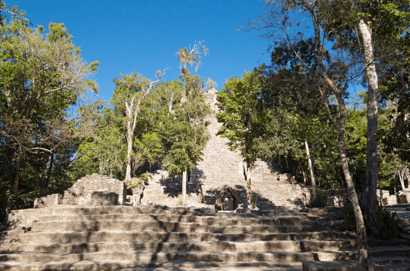 Ruins in Coba, Mexico