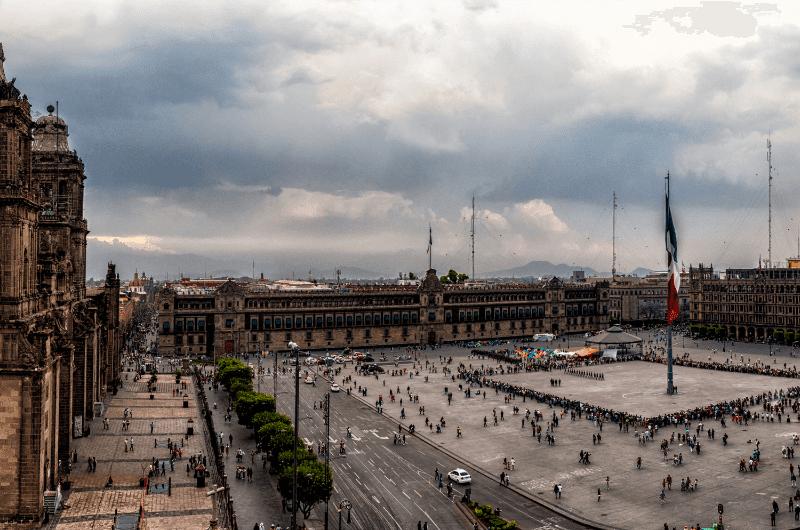 Tenochtitlan, former center of the Aztec Empire