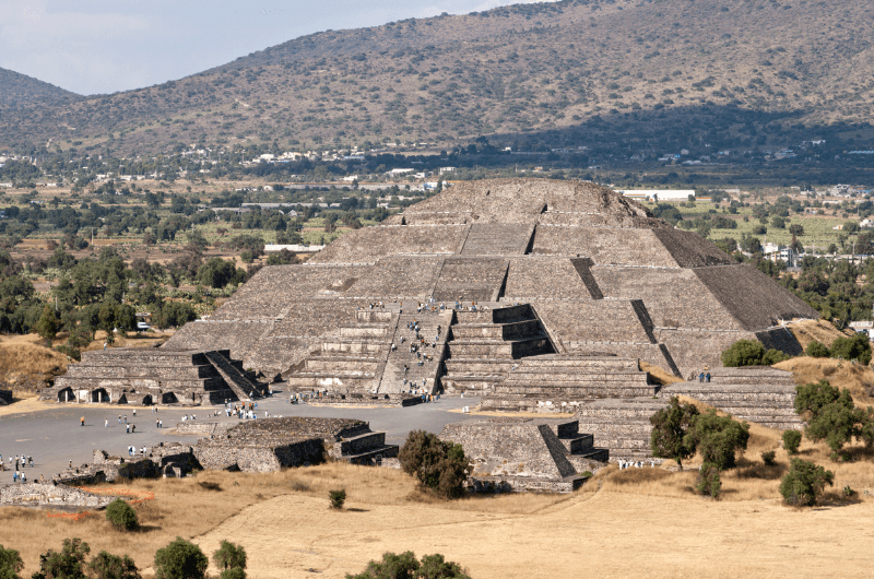 The Pyramid of the Moon in Teotihuacan, Mexico