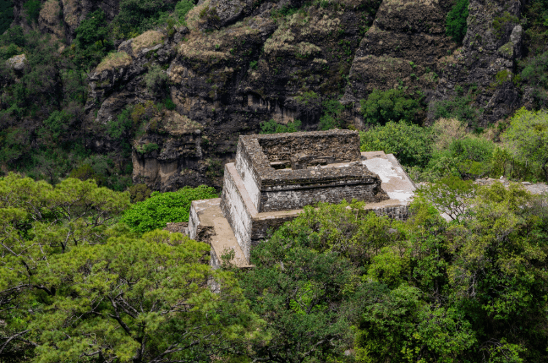 Tepozteco, Aztec ruins on a hill