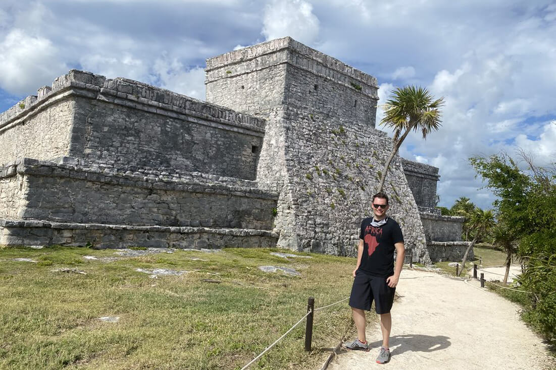 Me standing in one of the best Mayan cities in Mexico: Tulum