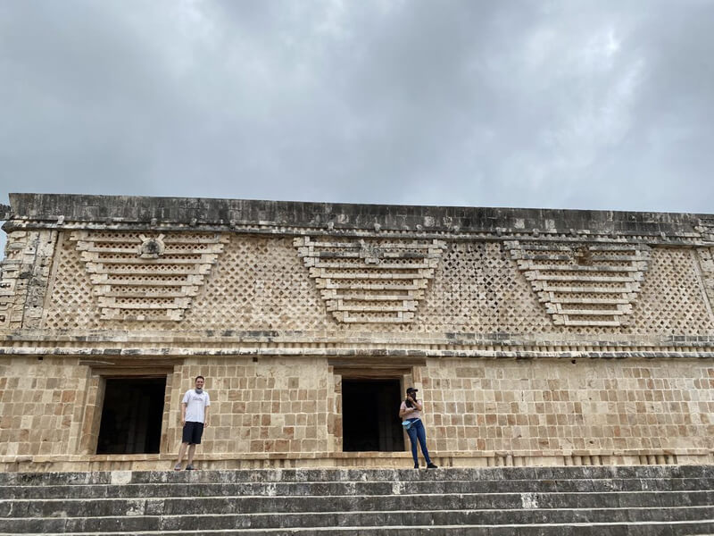 Ball court in Uxmal, Mayan city in Mexico
