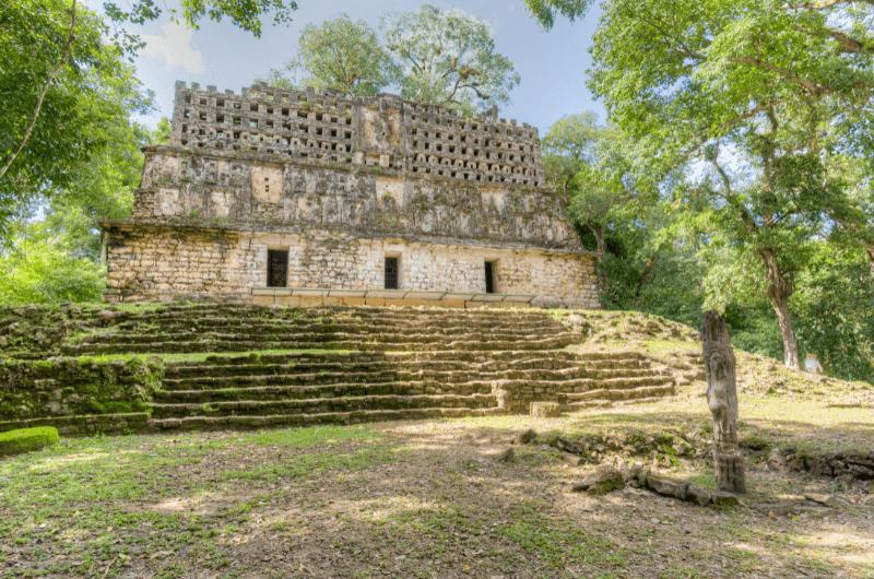 Ancient ruins in Yaxchilán, Chiapas