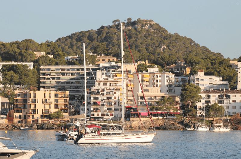 Santa Ponsa harbor nowadays