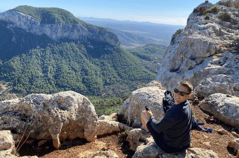 Me, full of endorphin in Tramuntana Mountains