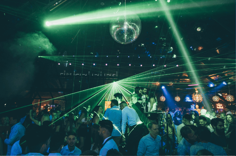 People dancing in the club