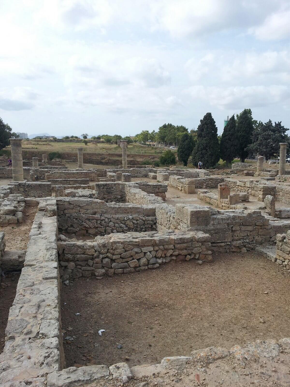 Roman Ruins in Alcudia, Mallorca; City of Pollentia