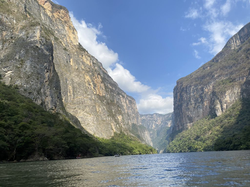 Canyon Sumidero trail in Mexico