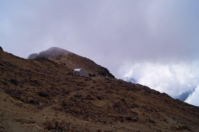 The steep slope of Iztaccíhuatl in Izta Popo National Park