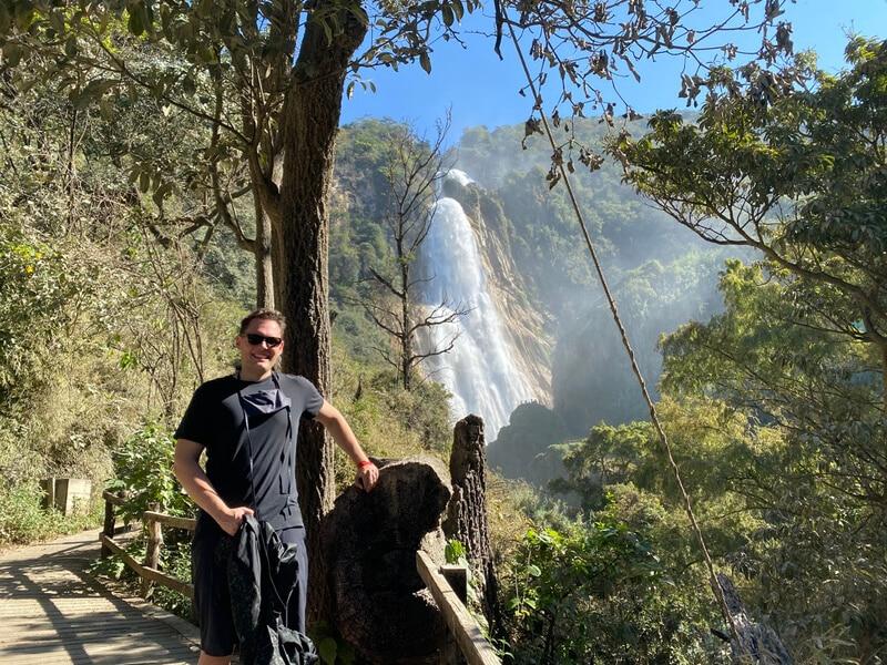 El Chiflón trail in Mexico