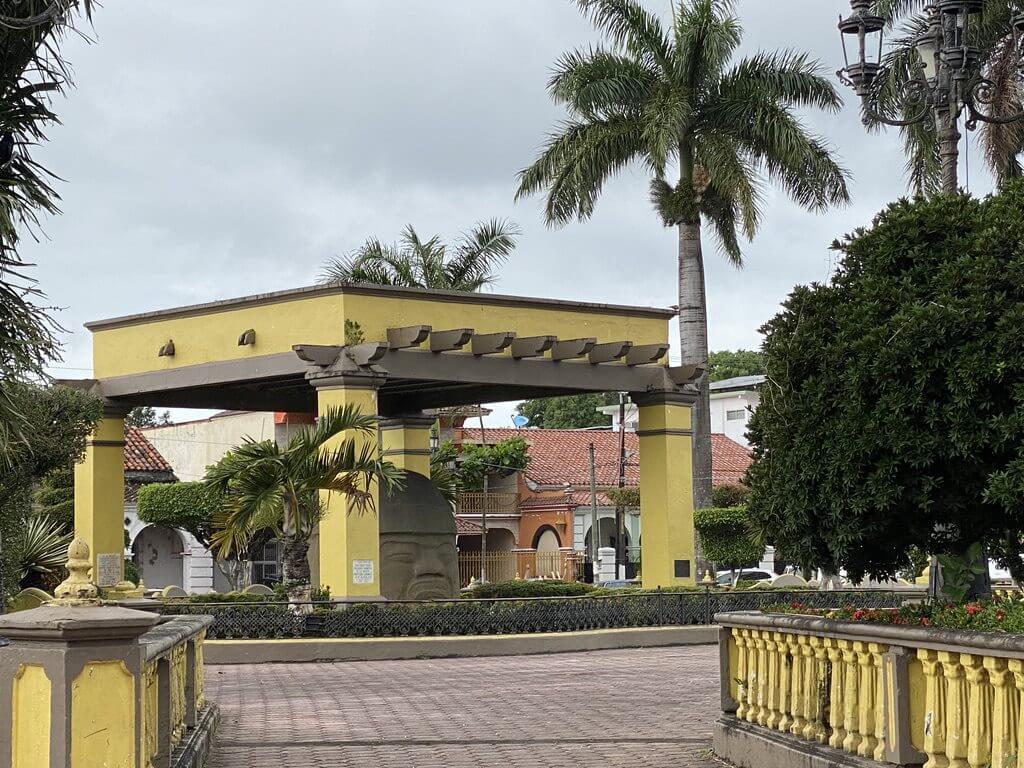 Colossal head in Santiago Tuxtla in Veracruz, Mexico