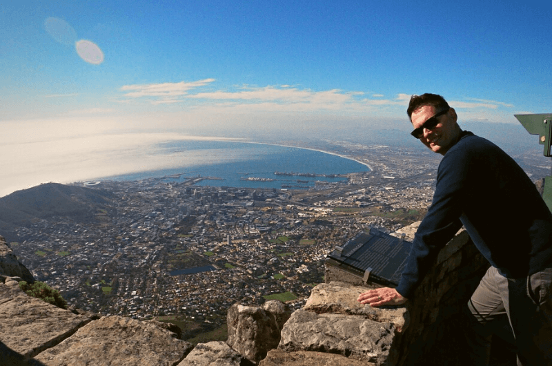 Table Mountain view of Cape Town