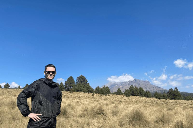 Me hiking in Izta Popo National Park