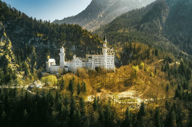 Neuschwanstein Landscape, Bavaria, Germany