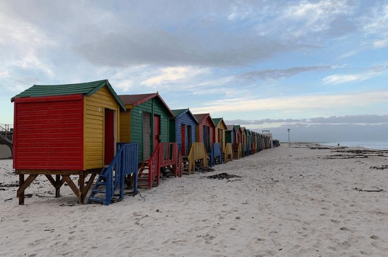 Beach houses on the coast, South Africa