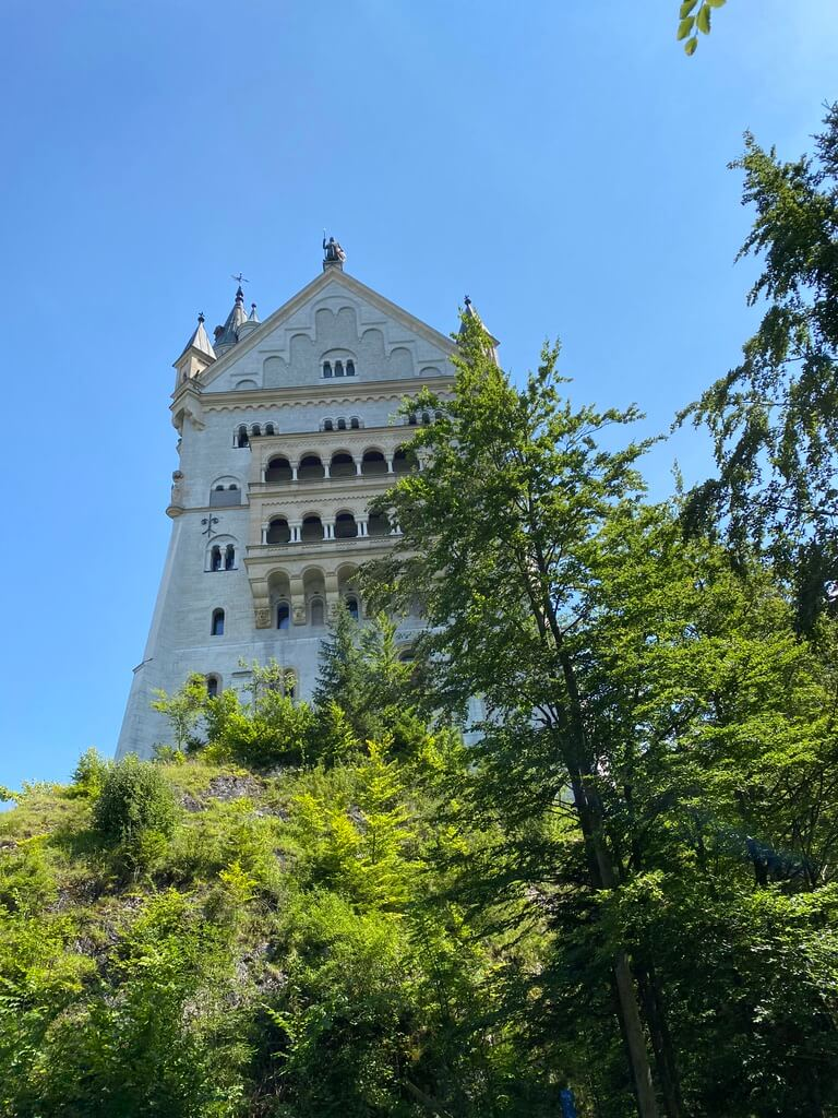 Neuschwanstein castle on the way up