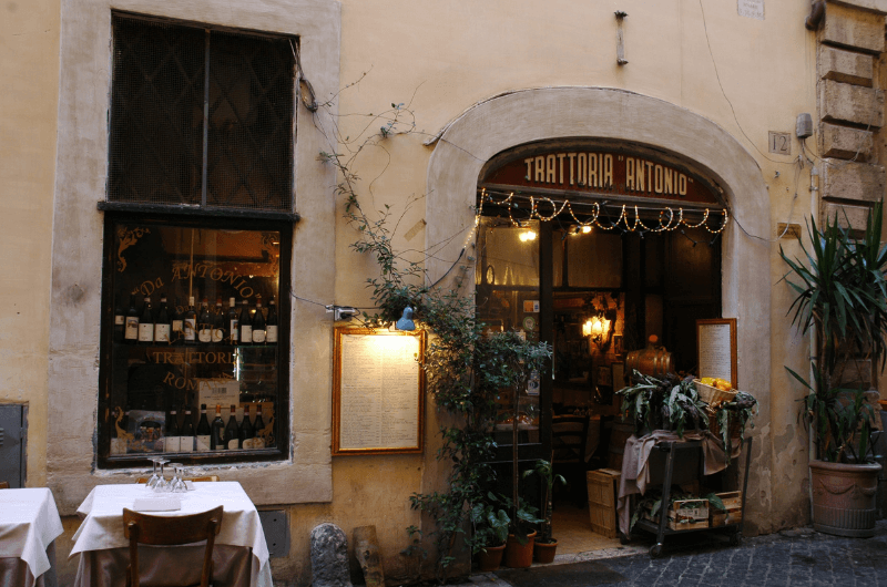 Typical Italian Trattoria