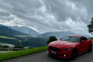 Austria mountains, car trip